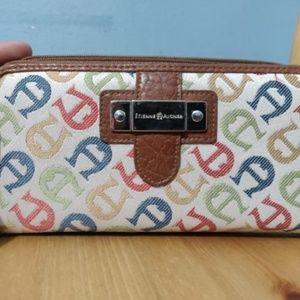 Etienne Aigner Multi-Color Snap Zip Wallet